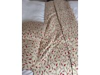 Single heavy lined door curtain and 2 matching cushions from John Lewis