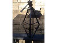 Velbon DF 50 camera tripod with Manfrotto tripod carry case