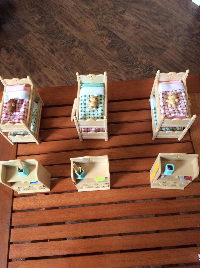Sylvanian - Families children's bedroom sets. Price is per set