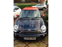 "Mini One 06 reg. One previous owner, 17"" black alloy wheels, John Cooper Works stickers."