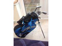 Kids golf clubs & bag