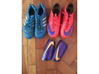 Football boots / Astro boots and shin pads
