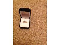 BRAND NEW 9CT TANZANITE & DIAMOND RING