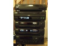 Retro stack system record player 6 cd player aiwa used