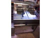 COMMERCIAL BOIANI CINOTTI ITALIAN ELECTRIC FRYER TWIN TANK TWO BASKET 12KW FOR CAFE DINER PUB HOTEL