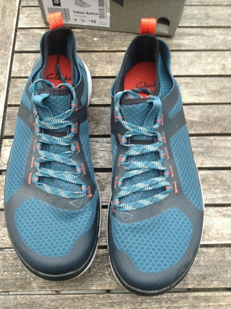 e1605ffe7 Clarks Mens Lace-up Sport Shoes Triken Active Teal Synthetic UK 8   42 RRP  £65