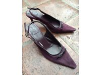 Boden Purple suede sling back shoes size 37