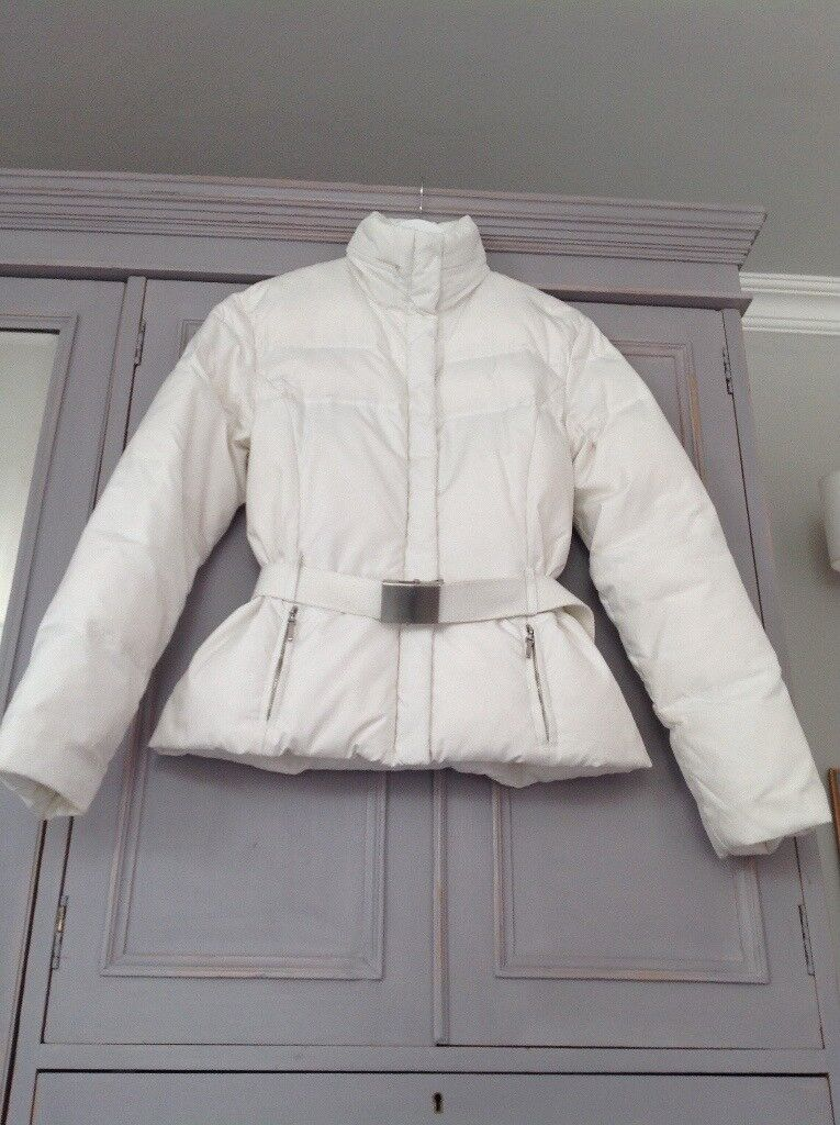 Warm and stylish white down filled Zara jacket