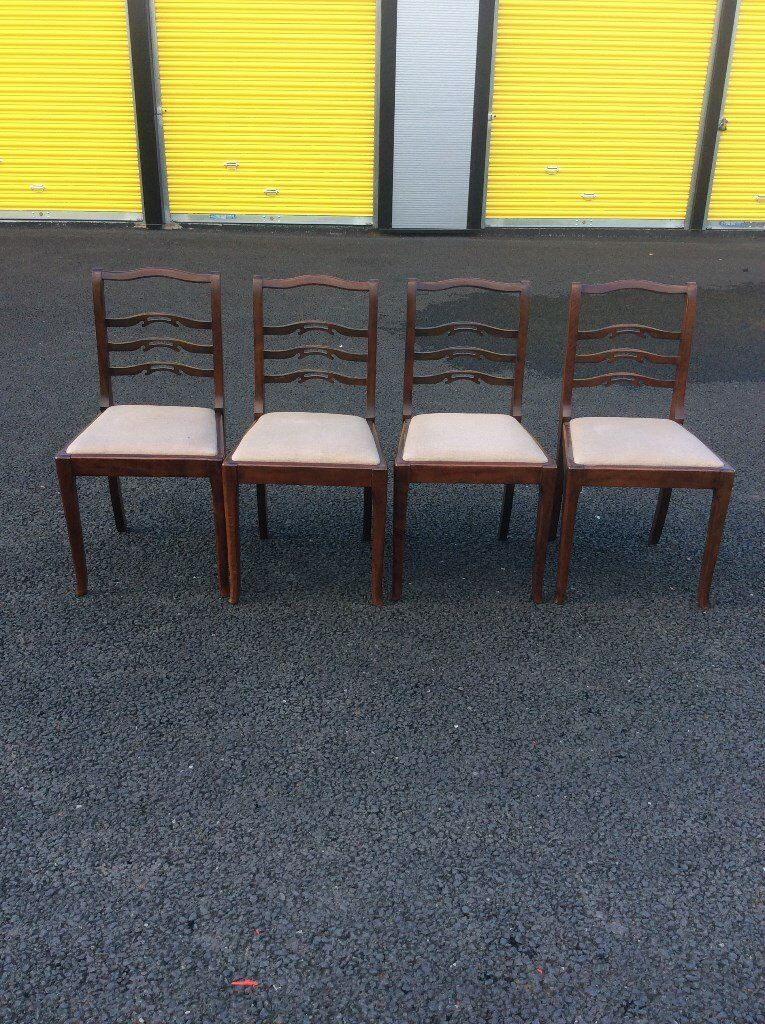 A Set of 4 Dining Chairs