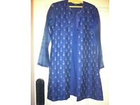 Rohit Bal Indian 3-piece jacket-shawl-trouser ensemble