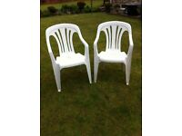 2 heavy quality PVC garden/ patio chairs