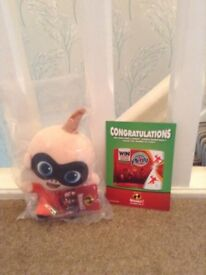 """Brand new Jack Jack from Incredibles 2 7"""" Plush Toy"""