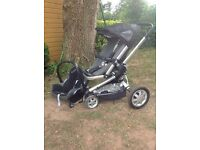 Quinny pushchair and baby car seat combo