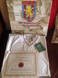 Aston Villa European cup winners shirt in box