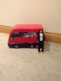 One Direction Tour Bus & Concert Stage plus Harry Styles Doll