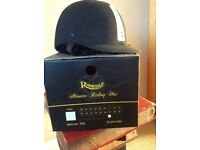 Horse riding safety hat in black