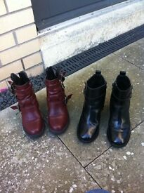 *** X2 Pairs of Firetrap Boots size 4 ***