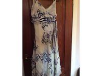 Monsoon Silk Dress - Size 14