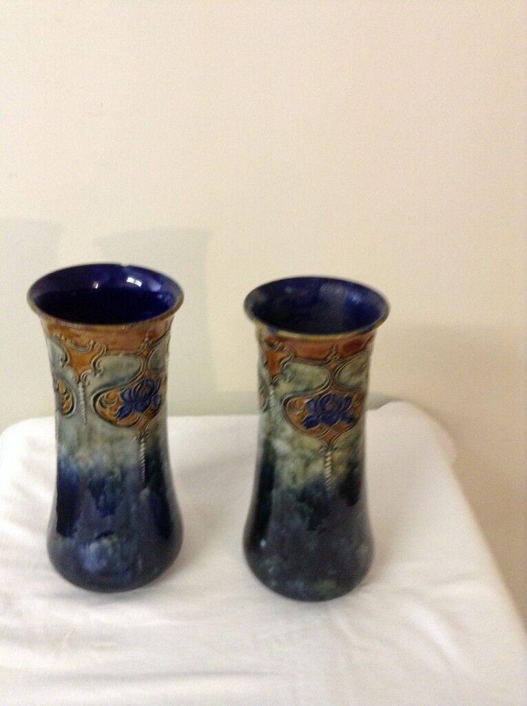 Final Reduction Royal Doulton Vases Pair 19021922 In Coxheath