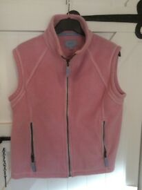Ladies Musto pink gilet size 10,excellent condition
