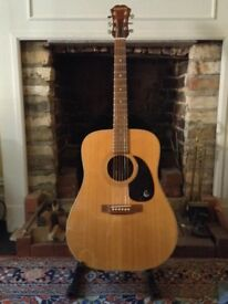 Vintage 1970s Epiphone (Japan) FR 25 Herringbone Dreadnought Acoustic, £350 buyer collects