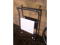 Retro, industrial/factory, heated towel rail