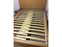 Lee Longlands Double Oak bed frame
