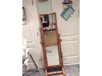 Full length free standing wooden framed mirror