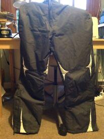 'Parallel' ski trousers, womens' size 16 - grey/white detail