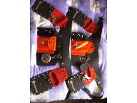 Husqvarna x2 belts x4 chains x2 sharpening kits