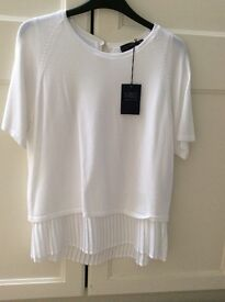 Marks & Spencer white top size 12
