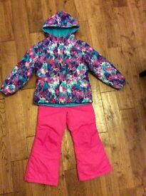 Girls ski suit age 6-7