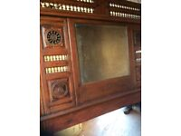 French oak panel with mirror