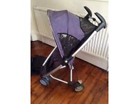 Quinny zapp pushchair, rain hood and carry case for sale