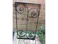 Four wrought iron panels