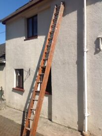 Double extension ladder- wood