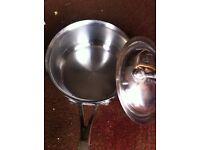 Steel saucepan