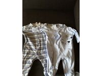 Two Next up to one month boys babygrows