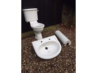 Toilet & Sink (White)