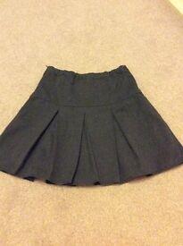 Next girls grey school skirt age 9 years