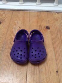 Purple Crocs - Size 6/7