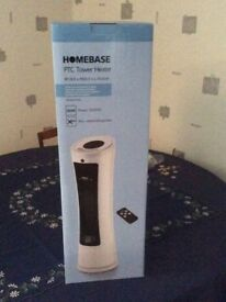 Homebase portable electric tower heater - boxed as new with remote control