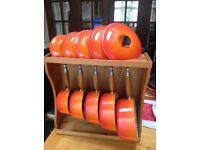 Genuine Le Creuset 13 piece pan set with wooden stand