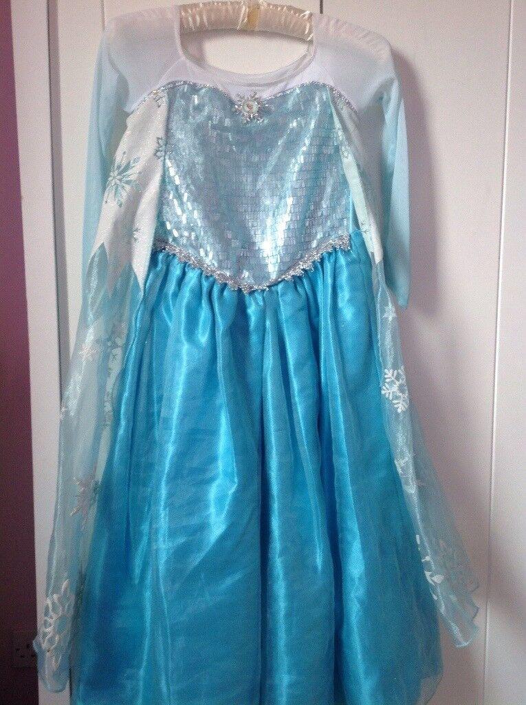 Disney Store Frozen Elsa Dress age 7-8 yrs