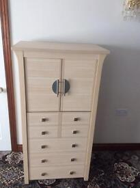 Chinese style bedroom unit. 1 Large cupboard and 5 Draws. Good Condition £85
