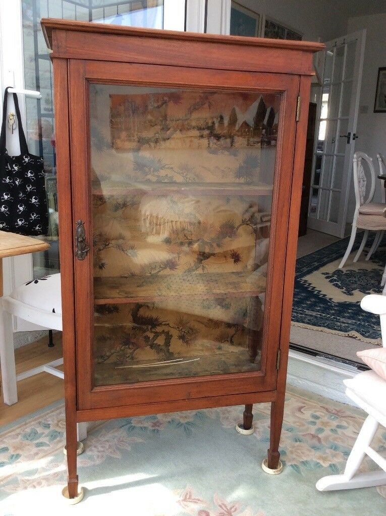 Antique glass fronted display cabinet in excellent condition.
