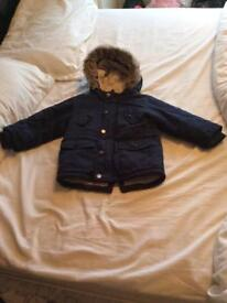 Next boys navy parka coat age 18-24 months/1.5-2 years