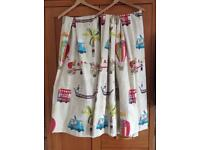 """Fantastic travel themed pencil pleat curtains - 80"""" drop 63"""" wide"""