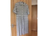 Women's blue and white Marks and Spencer cotton dress size 10