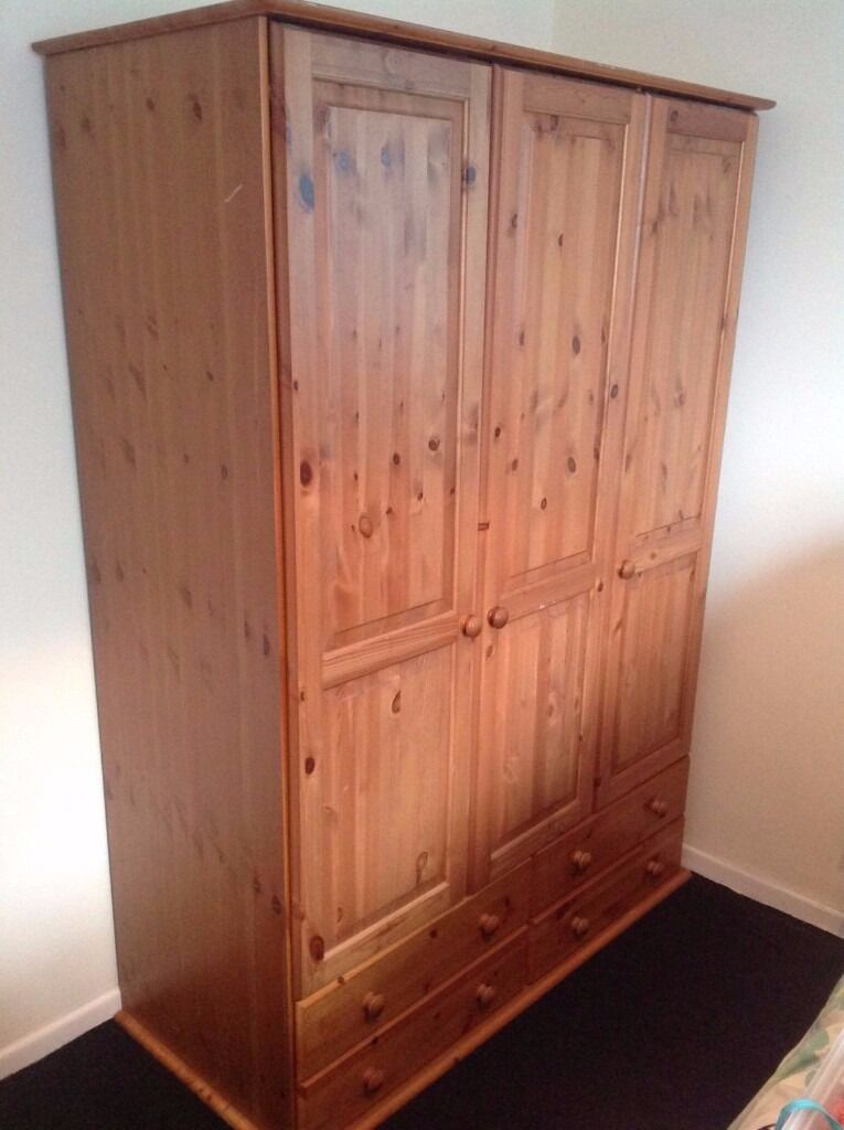 CHEAPER 40.00 SOLID WOOD , PINE,,,LARGE WARDROBE WITH